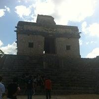Photo taken at Zona Arqueológica de Dzibilchaltún by Lili M. on 3/9/2012