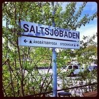 Photo taken at Saltsjöbaden (L) by Stephanie Ö. on 5/19/2012