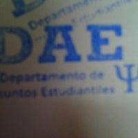 Photo taken at Dae Facultad De Psicologia by Sofi N. on 8/10/2012
