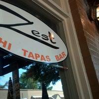 Photo taken at Zest Sushi & Tapas Bar by Sarah O. on 8/13/2012