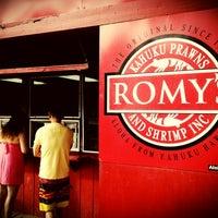 Photo taken at Romy's Kahuku Prawns & Shrimp Hut by Ron P. on 8/4/2012