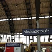 Photo taken at Bahnhof Berlin Alexanderplatz by Tim M. on 8/7/2012