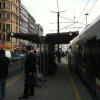 Photo taken at Sirkeci Tramvay Durağı by Aytek Ç. on 3/30/2011