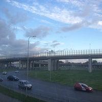 Photo taken at Dienvidu tilta Slāvu aplis by Juris L. on 9/4/2012