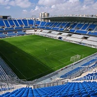 Photo taken at Estadio La Rosaleda by MARCA on 3/13/2012