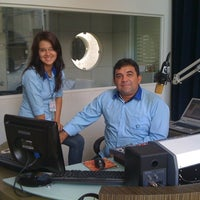 Photo taken at Rádio Liberal/CBN by Alcyr C. on 10/6/2011