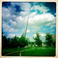 Photo taken at Monument to the Conquerors of Space by Valeriy V. on 6/18/2012