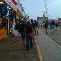Photo taken at Wildwood Boardwalk by Rachel E. on 8/1/2011