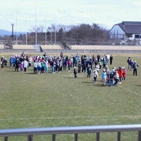 Photo taken at 郡山市営西部サッカー場 by みちる 6. on 3/20/2012