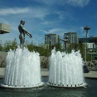 Photo taken at Father & Son Fountain by Adrienne on 4/24/2012