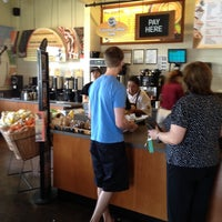 Photo taken at Einstein Bros Bagels by Jared R. on 4/7/2012