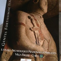 Photo taken at museo Archeologico Nazionale d'Abruzzo - Villa Frigerj by Barbara P. on 8/15/2012