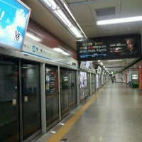 Photo taken at Myeong-dong Stn. by Max K. on 10/13/2011