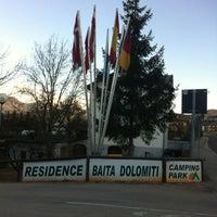 Photo taken at Camping Park Baita Dolomiti by Master B. on 2/17/2012