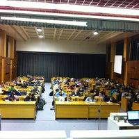 Photo taken at Fakulta tělesné výchovy a sportu by Erika T. on 12/16/2011