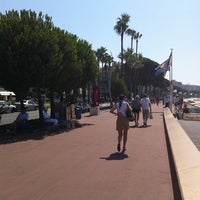 Photo taken at Boulevard de La Croisette by Mashael K. on 7/16/2011