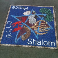 Photo taken at Shalom / Peace mosaic by Matthew V. on 6/4/2012