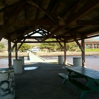 Photo taken at Waimea Recreation Pier by ernie e. on 1/19/2012