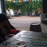 Photo taken at London Fields Brewery by Jenny J. on 7/15/2012