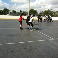 Photo taken at Suniland Roller Hockey Court by Tiffany K. on 11/19/2011