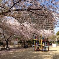 Photo taken at 市岡元町公園 by Tetsuya N. on 4/14/2012