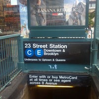 Photo taken at MTA Subway - 23rd St (C/E) by Teebugs H. on 8/22/2011