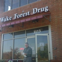 Photo taken at Wake Forest Drug by Chris W. on 11/2/2011