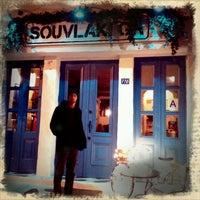 Photo taken at Souvlaki GR by Laura N. on 1/6/2012
