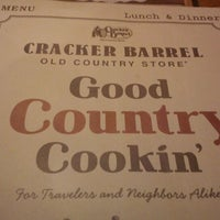 Photo taken at Cracker Barrel Old Country Store by Tyler R. on 12/26/2011