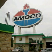 Photo taken at World's Largest Amoco Sign by Bob B. on 8/13/2012