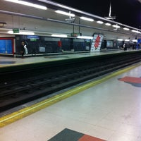 Photo taken at Metro Ciudad Universitaria by María Q. on 3/23/2011