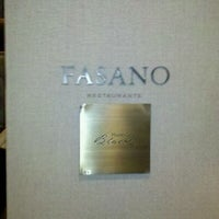 Photo taken at Restaurante Fasano by Danilo F. on 11/25/2011