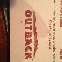 Photo taken at Outback Steakhouse by Lauren V. on 8/9/2012