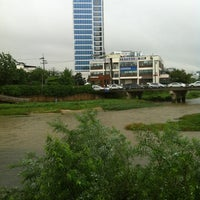 Photo taken at 안양천 산책로 by Eun Shil S. on 8/20/2012