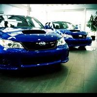 Photo taken at Bob Moore Subaru by Dustin M. on 5/7/2012