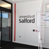 Photo taken at University of Salford (MediaCityUK Campus) by Erinma O. on 5/19/2012