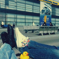 Photo taken at Terminal F by Lilla P. on 4/24/2012