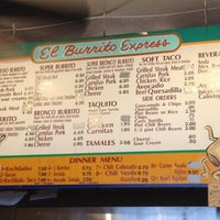 Photo taken at El Burrito Express by Brian R. on 7/3/2012