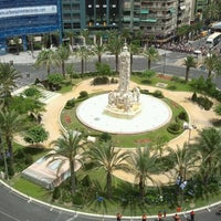 Photo taken at Plaza de Los Luceros by Estela S. on 6/20/2012