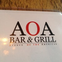 Photo taken at AOA Bar & Grill by Alexander S. on 8/15/2012