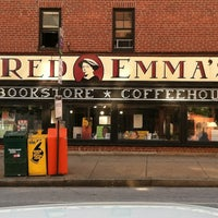 Photo taken at Red Emma's Bookstore Coffeehouse by Dave G. on 5/24/2012