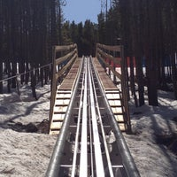 Photo taken at Gold Runner Alpine Coaster by Jennifer D. on 4/8/2012