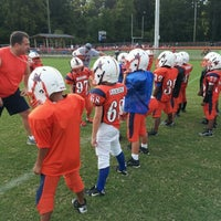 Photo taken at Acworth Warriors Football Field by Sean A. on 8/22/2012