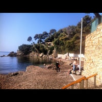 Photo taken at Plage des Bonettes by Cyril S. on 3/25/2012