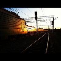 Photo taken at Ж/д станция Гжель by Дима Г. on 7/26/2012