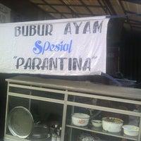 Photo taken at Bubur Ayam Parantina (bubur fay) by Ahmad F. on 4/28/2012