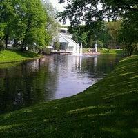 Photo taken at Kronvalda parks by Dina I. on 5/22/2012