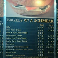 Photo taken at Slim's Bagels and Bialys by Richard A. on 11/6/2011