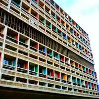 Photo taken at Cité Radieuse Le Corbusier by Sev L. on 11/27/2011