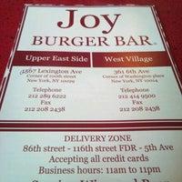 Photo taken at Joy Burger Bar by Anthony R. on 12/19/2011